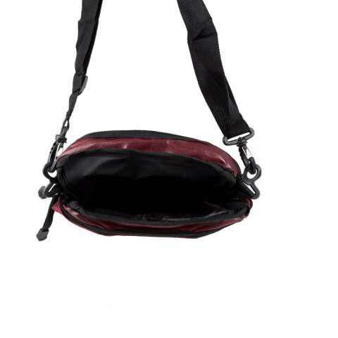 Elfs Shop - Tas Selempang Pria Men's Sling Crossbody Shoulder Bag Canvas Simple-Maroon