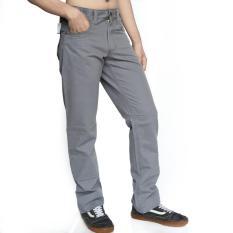 Emba Casual Celana Panjang Pria Aldercy Modern Basic - Grey