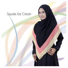 Jilbab EmmaQueen square ice cream [black]