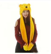 Enam Puluh Satu Anak-anak Dewasa Mewah Kartun Hewan Topi (Winnie The Pooh)