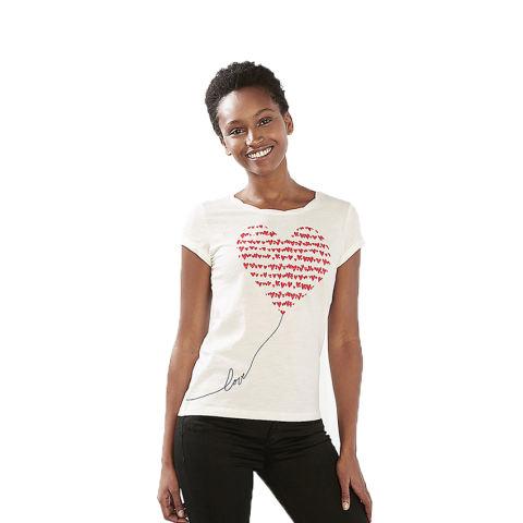 Esprit 017CC1K016 Women's T-Shirts - Off White