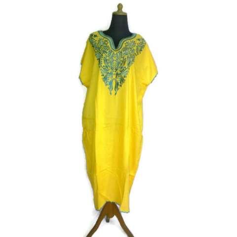 Beli Ezpata Daster Bordir 3d Shantung Premium Kuning Bordir Biru Harga Rp 150.000