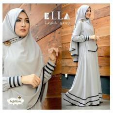 F Fashion Baju Muslim Gamis Syari Najwa - Abu / Dress Muslimah / Hijab Muslim / Gamis Syari / Baju Muslim / Fashion Muslim / Dress Muslim / Fashion Maxi / Setelan Muslim / Atasan Muslimah