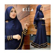 F Fashion Baju Gamis Muslim Syari Najwa - Navy / Dress Muslimah / Hijab Muslim / Gamis Syari / Baju Muslim / Fashion Muslim / Dress Muslim / Fashion Maxi / Setelan Muslim / Atasan Muslimah /Kebaya Modern