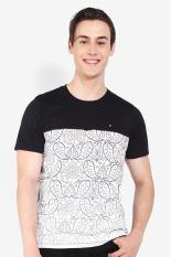 FAMO Pakaian Atasan Kasual Kaos T-Shirt Pria Men Tshirt Black Diskon discount murah bazaar baju celana fashion brand branded