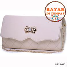 Fashion Dompet Wanita Premium Lucu Dan Modis Original Hri 6412 - Cream
