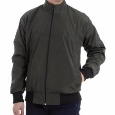 Fashion - Jaket DC Pria Bolak Balik - hijau army-abu