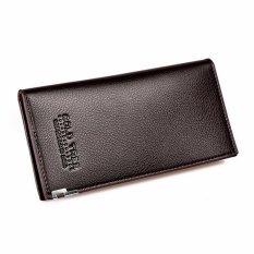 Mens Wallets Kulit Mewah Dompet Koin Lama Gaya Vintage Merek Desainer Notecase Pemegang Kartu Carteira Masculina Kopi Hitam