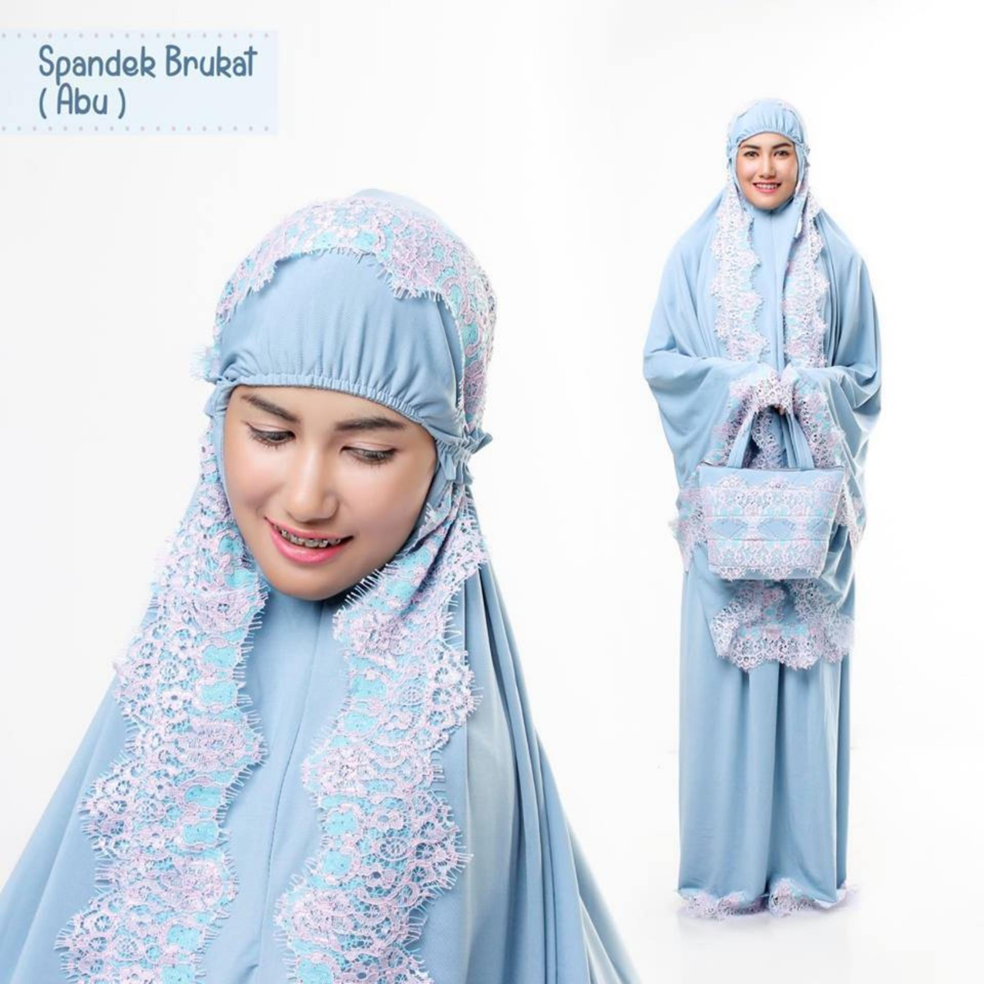 Fashion Muslim Mukena Spandek Brokat - Spandek Sutra