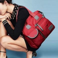 Fashion Nylon Women's Cross Body Shoulder Tas Besar Kapasitas Handbags Merah-Intl