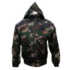 fashion pria jaket DC parasut Bolak-balik army-hitam keren.BJ