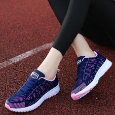 Sepatu Wanita Gaya Kasual Untuk Santai Sekolah Jalan-Jalan Model Terbaru (Biru)