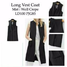 Fashionshop Rompi Long Vest Hita / Baju Wanita / Blouse Korea / Atasan Wanita / Baju Formal / Kemeja Wanita / Kemeja Formal / Atasan Muslim / Kemeja Cewek Tunik / Blouse Sabrina