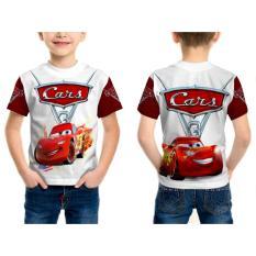 [Fika Store] T-Shirt kaos Pendek Anak Unisex CARS 3 3D Printed Sublimation - Art 1