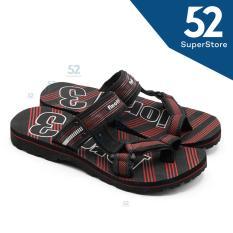 Finotti Sandal Kasual /Sandal Gunung Pria Jordi 3 - Black/Red Size 38/42