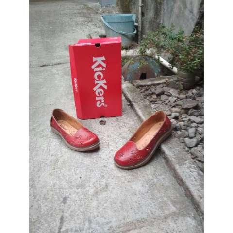 Flat Shoes Motif Flower Kickers