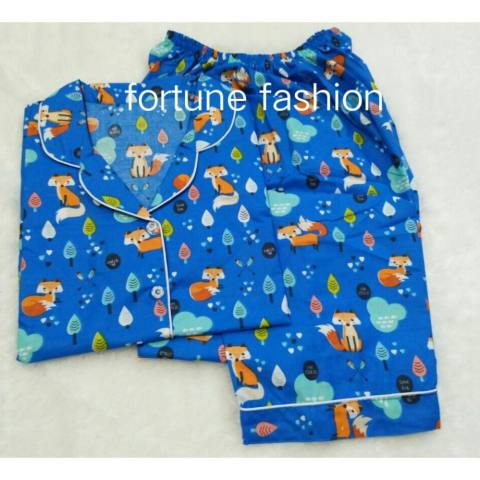 Fortune Fashion Piyama CP Fox - Biru