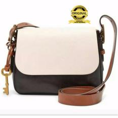 Fossil Harper Large Crossbody Black White - Tas Wanita