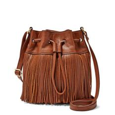 Fossil Jules Fringe Drawstring Brown Small