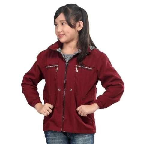 Free Ongkir ASLI DISTRO - jaket Hoodie anak perempuan maroon-Sweater Murah BKL ori 1