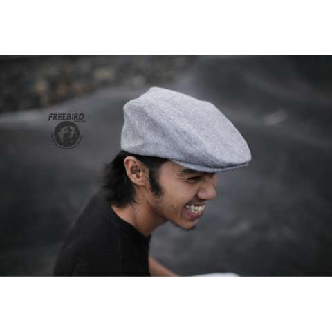 Sale Topi Kodok Patino Flat Cap Topipet Fleece Newsboy Murah Import ... efa1766081
