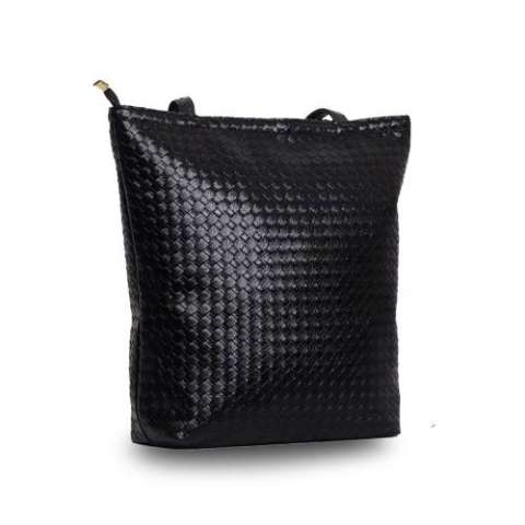 Freeshop Tas Wanita Women Fashion PU Tote Leather Handsbags Shoulder Bag Tote Bag Anyam Branded Import
