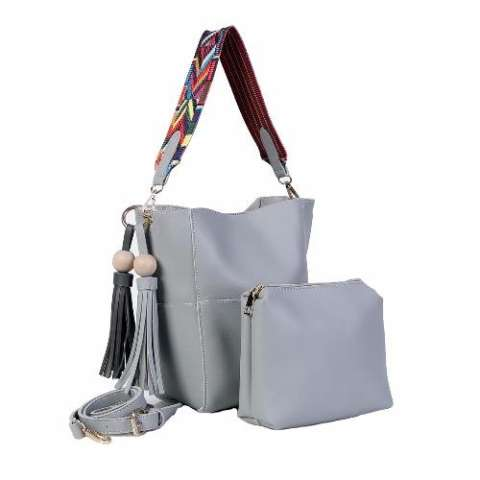 Freeshop Tas Wanita Women Fashion PU Tote Leather Handbags Shoulder Bags Tote bag Fashion + Pouch