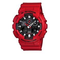 G Shock - Jam Tangan Pria - Merah - Resin - GA100-B4A
