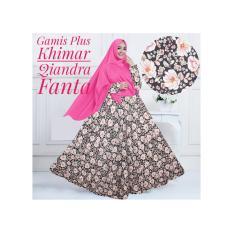 Gamis Baloteli Syari Murah / Gamis Maxi Dress Baloteli Qiandra Plus Khimar Warna Fanta/ Gamis Baloteli Busui