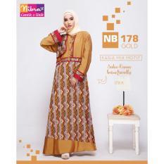 Gamis Dewasa Nibras NB 178 Gold Tosca