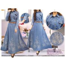 Gamis Jeans Payung Adelia Fit L.Xl