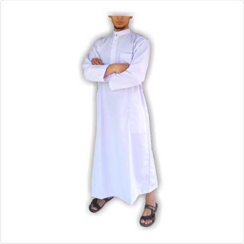 Gamis pria gamis ikhwan jubah arab putih polos gamis pria putih polos 4