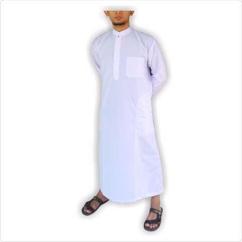 Gamis pria gamis ikhwan jubah arab putih polos gamis pria putih polos 2