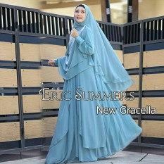 Gamis Syar'i Ceruty Polos Gracela/Eric Summer by Nurul Collection