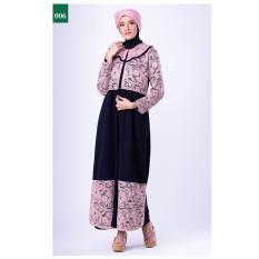 Garsel Fashion Dress Muslim / Gamis Syar'i Wanita FGN 0015 - BIRKOM Bahan Wolfis