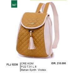 Garsel Fashion Tas Ransel / Tas Gendong Wanita FLJ 5238 - CREKOM Bahan Synth Virotex