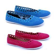 Garsel Shoes Casual GIA 6006 Sepatu Fashion Wanita-Pink-Biru Synth Promo
