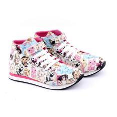Garucci Gjj 9093 Sepatu Anak Sneaker Permpuan-Canvas-Keren(Cream Kombinasi)