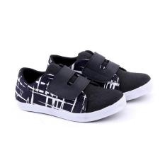 Garucci Gnw 9078 Sepatu Anak Sneaker Laki-Laki-Synth-Menarik(Black Kombinasi)