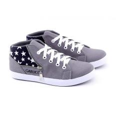 Garucci Gnw 9079 Sepatu Anak Sneaker Laki-Laki-Synth-Modis(Abu-Abu)