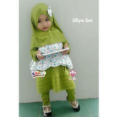 gaun anak+ turban I gamis bayi pink I baju muslim anak lucu 1,2,3,4,5,6 tahun I uliya
