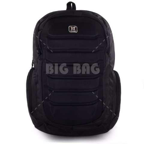 Tas Ransel Pria Gear Bag - Predator Tas Laptop Backpack - Black + Raincover - Black