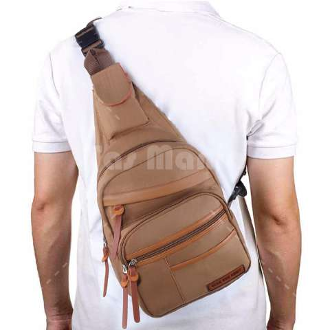 Tas Selempang Gear Bag Slingbag Army Air Force - Brown Tas Pria Tas Messenger Tas Slempang
