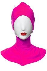 GETEK Cotton Muslim Inner Jilbab Islam Penuh Cover Topi Underscarf (Rose Merah)