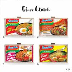 Glass clutch / acrylic clutch / tas pesta list plastik katalog Indomie
