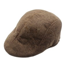 Gracefulvara Fashion Pria Balap Runcing Topi Datar Baret Country Golf Newsboy Hat (Brown)