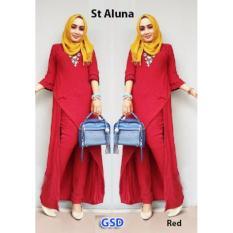 GSD-Baju Setelan Muslim Wanita- St Aluna Red