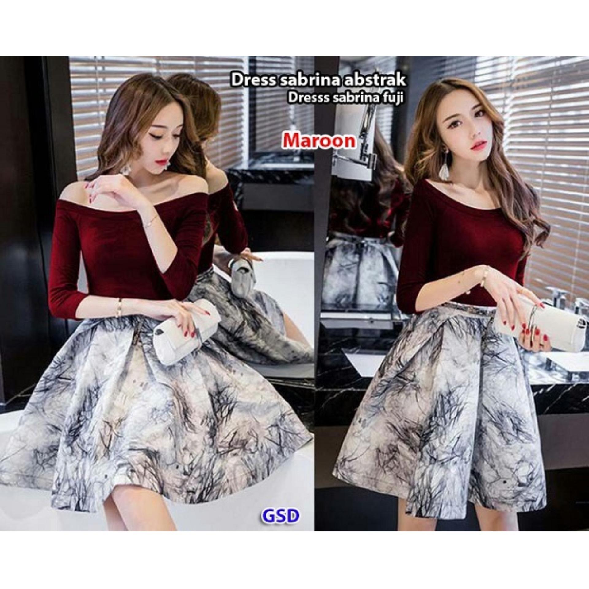 HARGA TERJANGKAU Shining Collection Midi Dress Batik Rosdiana Short ... f6f0014774