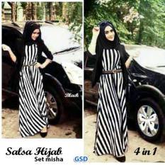 GSD - Baju Gamis / Baju Wanita /Dress Muslim /Maxi Dress /Baju Syari / Set Hijab Misha