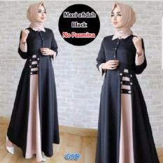 GSD-Maxi Gamis Syari  Fashion Afida Hitam